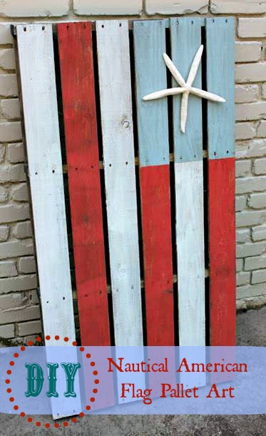 {Pinterest Challenge} Nautical American Flag Pallet Art