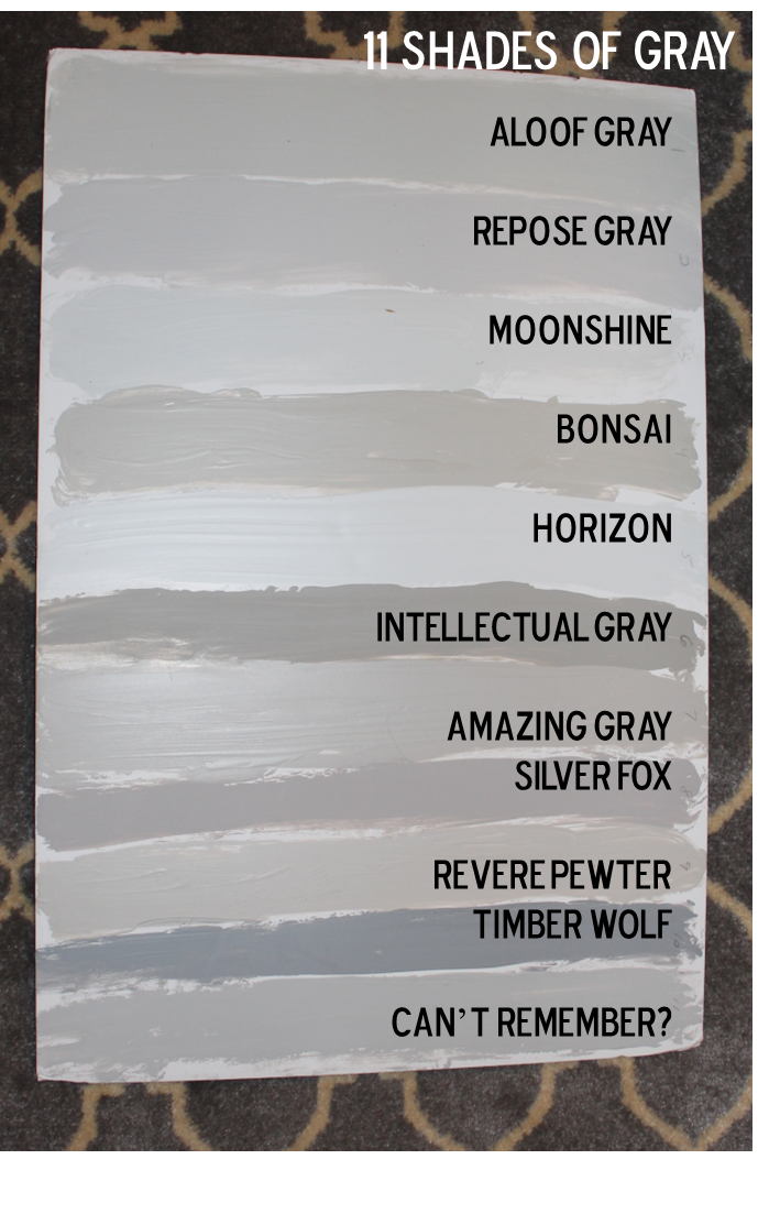 Fifty Shades of Grey… Our House Paint Colors