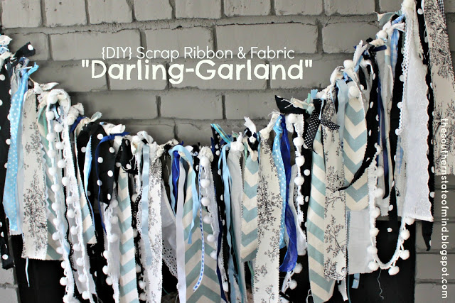 "{DIY} Scrap Ribbon and Fabric ""Darling-Garland"""