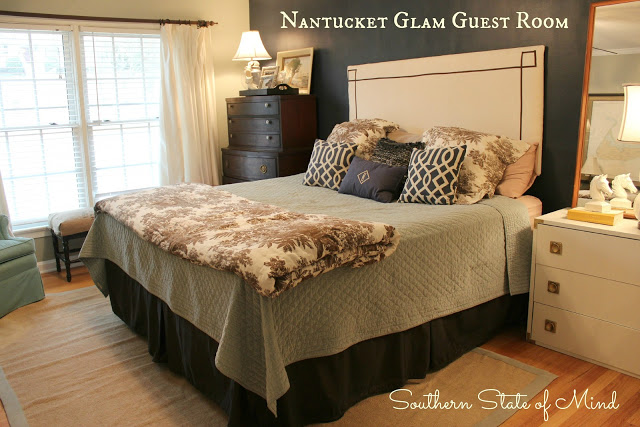 {Before and After} Nantucket Glam Guest Room