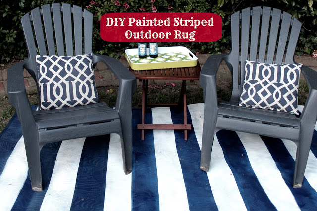 diy striped rug