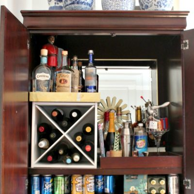 """How I Turned My Armoire Into a """"Bar""""moire"""