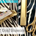 DIY-Gold-Spray-Painted-Scissors