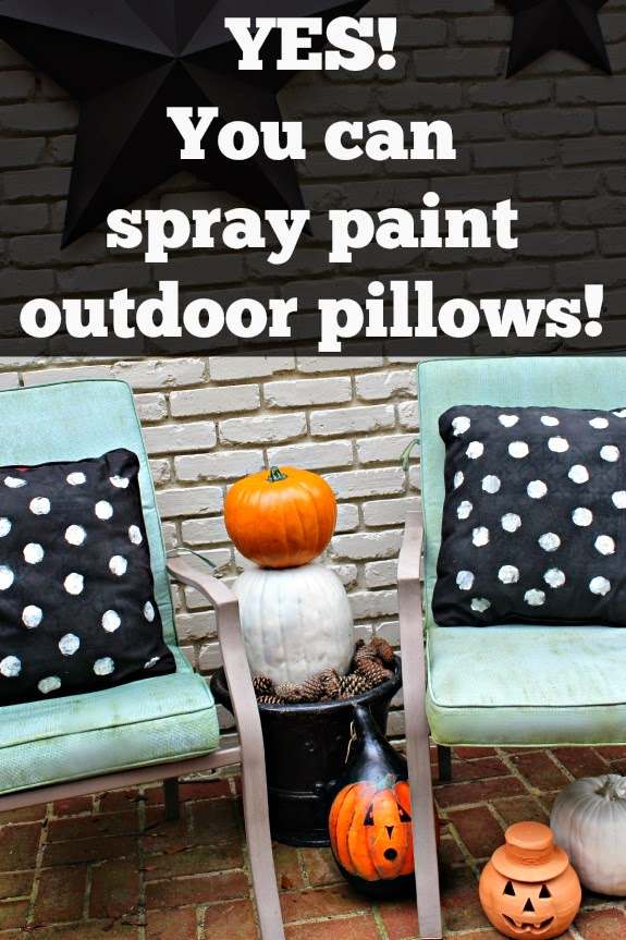 spray paint outdoor pillows. Black Bedroom Furniture Sets. Home Design Ideas