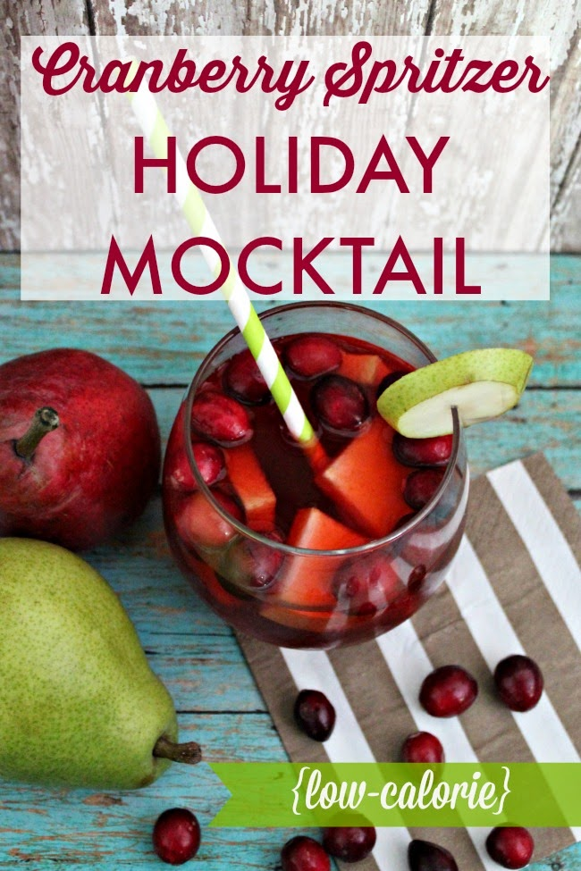 Signature Holiday Mocktail: Low-Cal Cranberry Spritzer