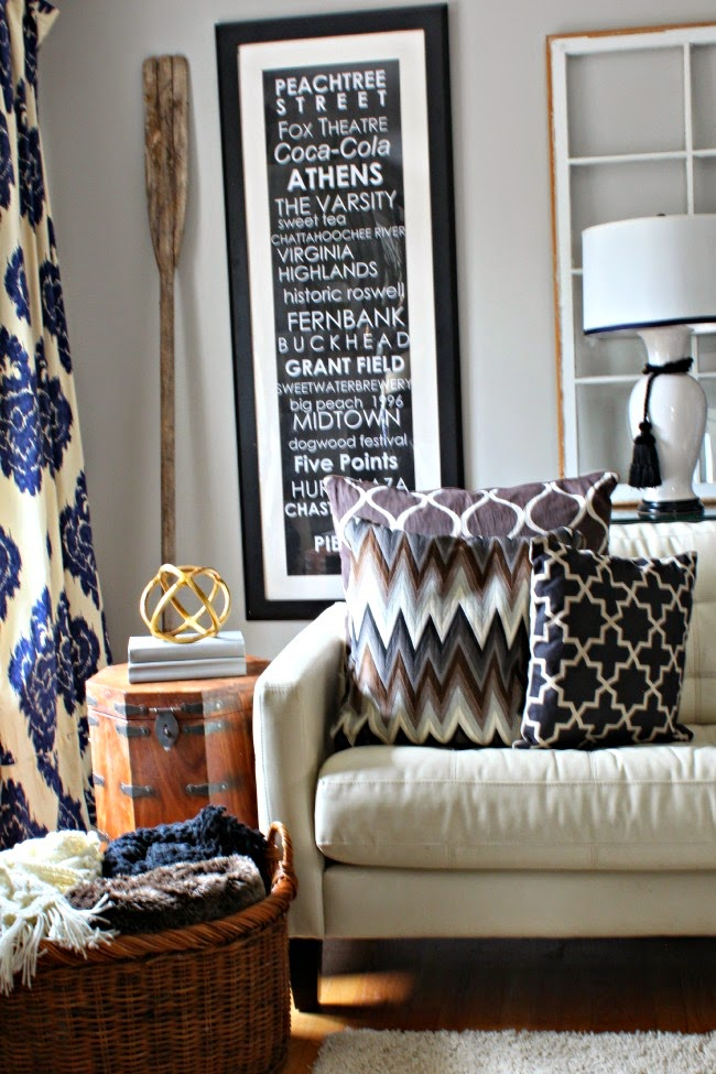 My january home restoration hardware inspired southern for Home decorations for january