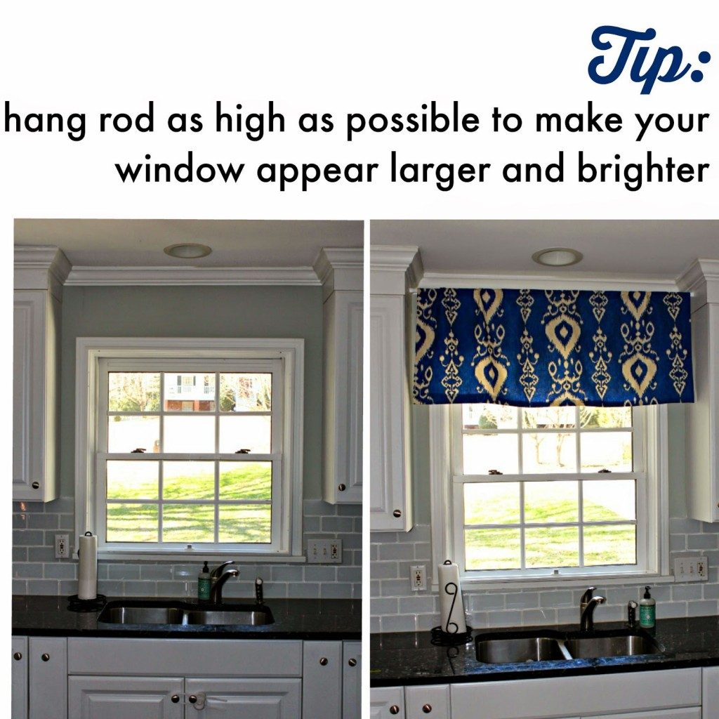 Spruce Up Your Kitchen No Sew Valance Southern State Of