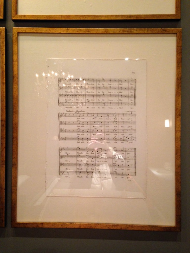 Restoration Hardware Inspired Framed Sheet Music Art