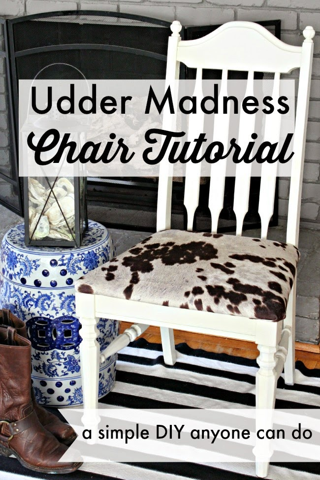 Udder Madness Chair Makeover Southern State Of Mind