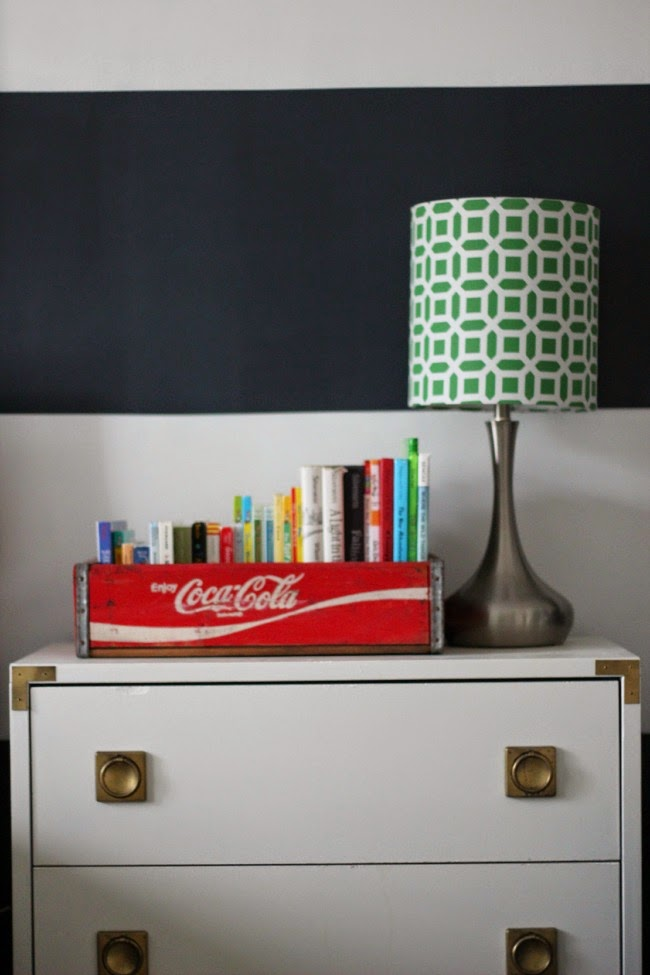 The Coca Cola Tray Is A Mandatory Item Around These Parts And I Love It For Corralling Books In His Room