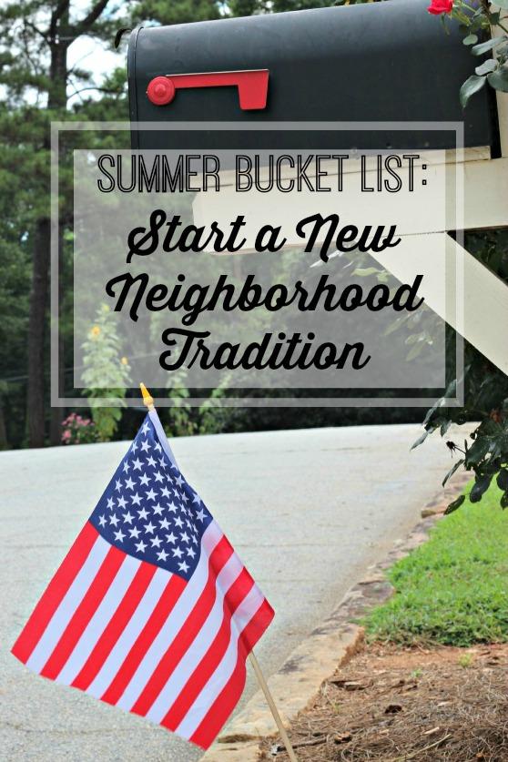 Neighborhood flag tradition