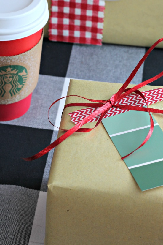 Gift Wrap Inspiration: Paint Chip Gift Tags