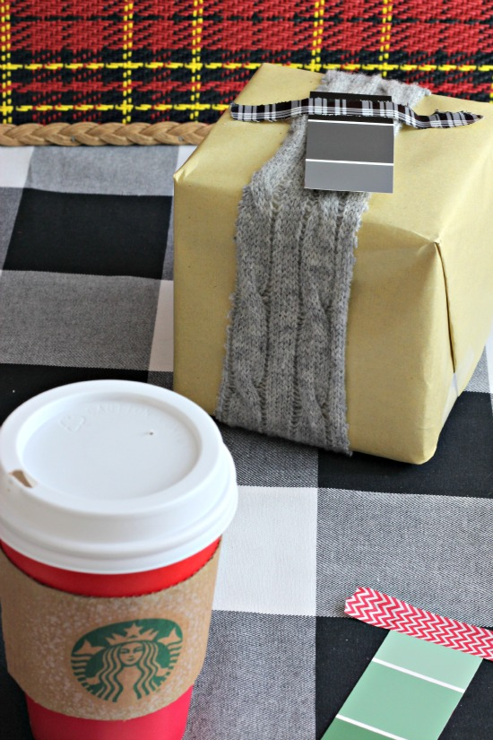sweater gift wrapping