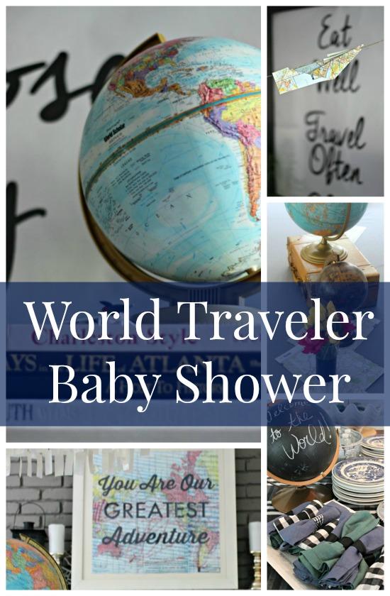 World Traveler Baby Shower Theme