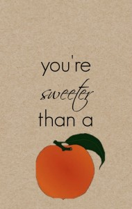 Sweet Peach Gift Tag smaller