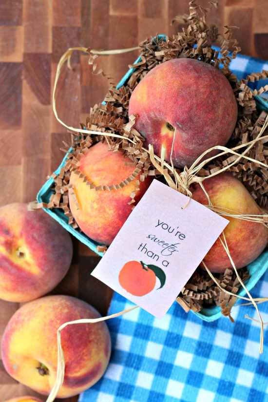 Sweet as a Peach Simple Gift Idea