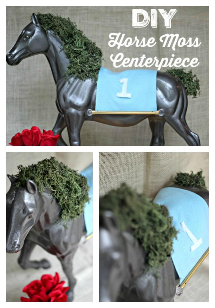 DIY Horse Moss Centerpiece