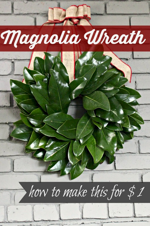 15 Minute Magnolia Leaf Wreath