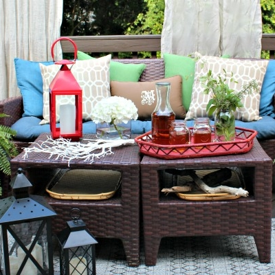{Our Southern Outdoor Retreat} Back Porch Makeover Reveal