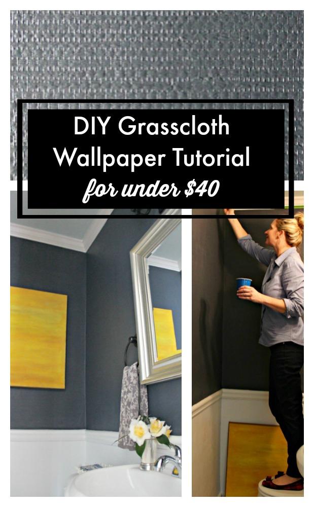 DIY Grasscloth Wallpaper tutorial
