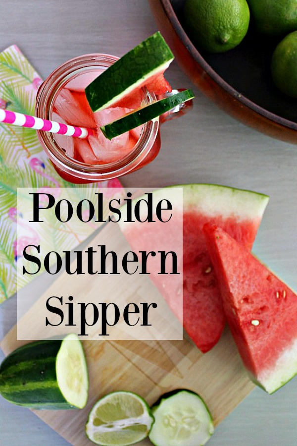 {Southern State of Mind Happy Hour} Poolside Southern Sipper
