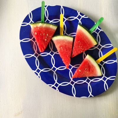{Five Minute Friday} Watermelon Popsicles