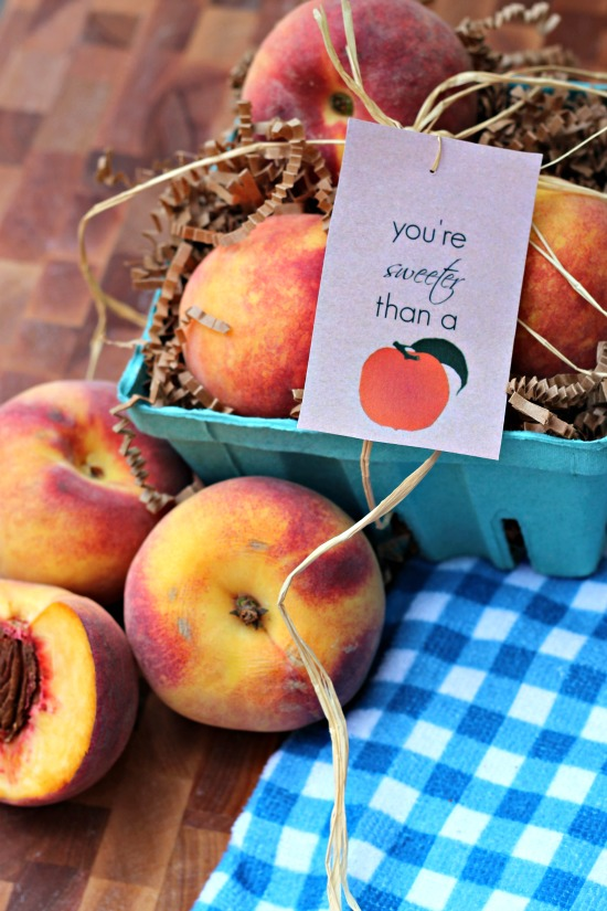 Peach Teacher Gift