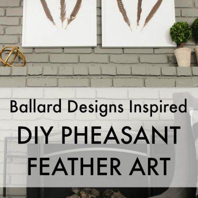 {Ballard Designs Inspired} DIY Pheasant Feather Art Tutorial