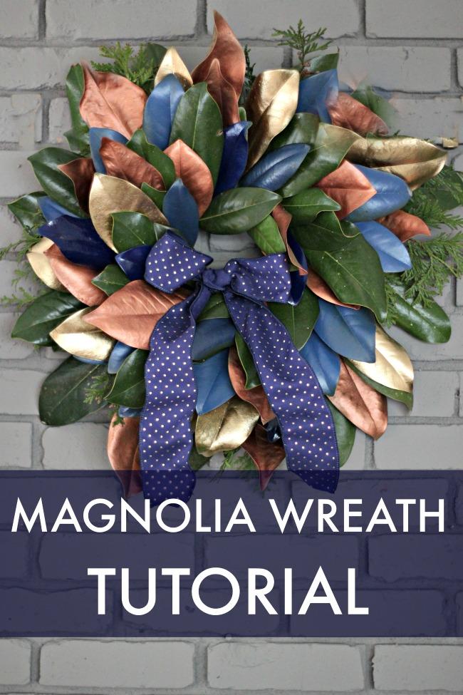 DIY Magnolia Wreath Tutorial