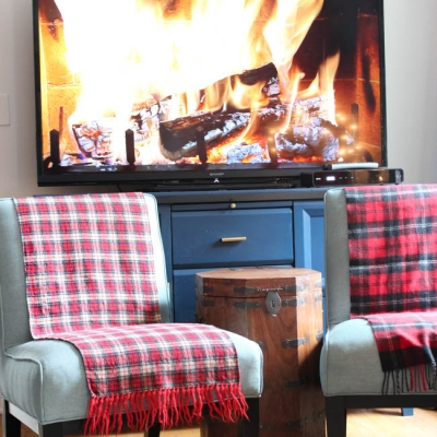 {Five Minute Friday} The Yule Log TV Station