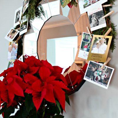 Our DIY Dollar Tree Christmas Card Garland