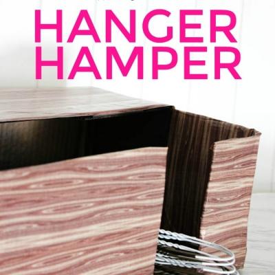 {Organization} DIY Hanger Hamper