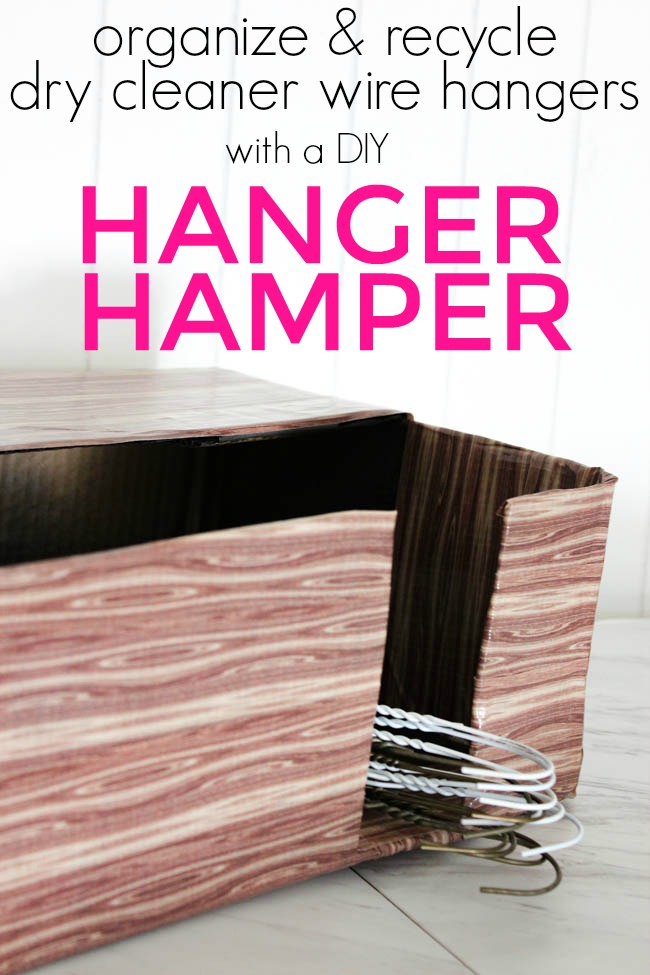{Organization} DIY Hanger Hamper