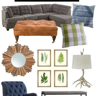 Getting Settled in the Family Den {$100 Room Challenge Week 1}